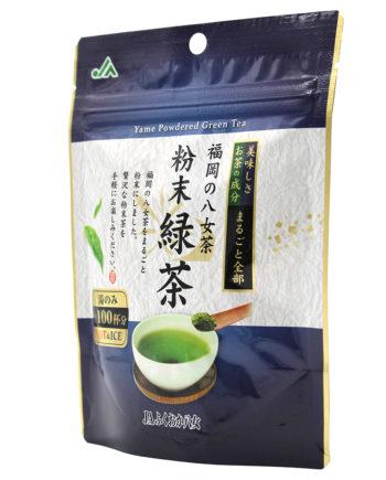 粉末緑茶 八女茶 福岡の八女茶 抹茶 九州産